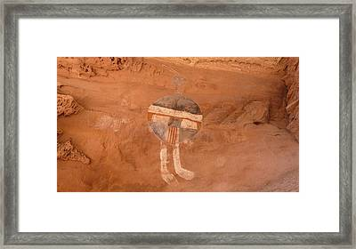 All American Man Pictograph Framed Print