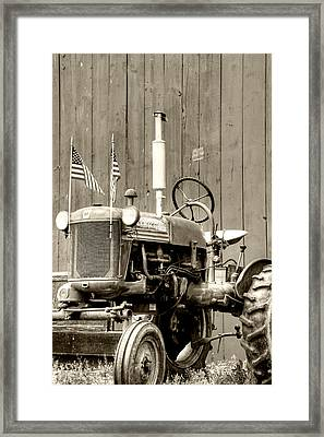 All American Tractor Framed Print by Heather Allen