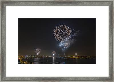All At Once San Diego Fireworks Framed Print by Scott Campbell