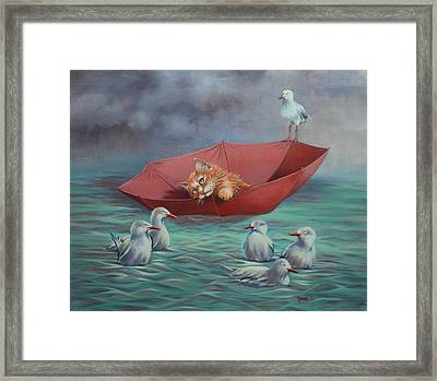 All At Sea Framed Print by Cynthia House