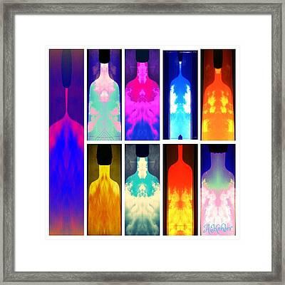 All Bottled Up Framed Print
