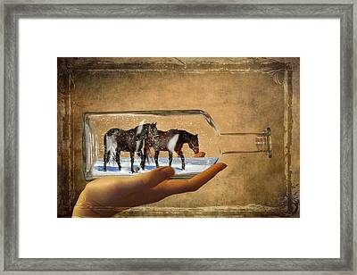 All Bottled Up Framed Print