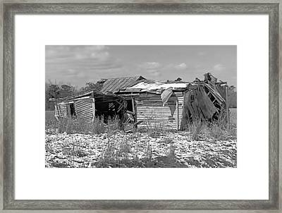 Framed Print featuring the photograph All But Gone Black And White by Victor Montgomery