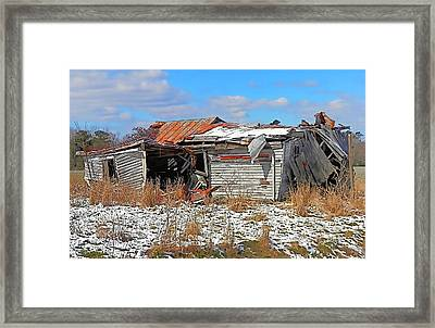 Framed Print featuring the photograph All But Gone by Victor Montgomery