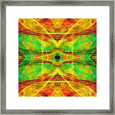 All Butterflies Live In Heaven 20140828 Square 4 Framed Print