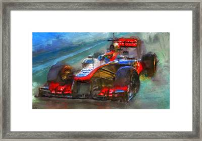 All Buttoned Up Framed Print