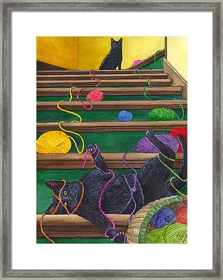 All Caught Up Framed Print by Catherine G McElroy