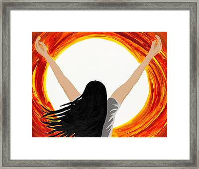 All Consuming Fire Framed Print