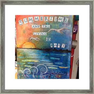 All Done. ..i Think #summer #mixedmedia Framed Print by Robin Mead