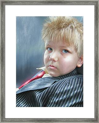 All Dressed Up And Ready For Mischief Framed Print by Jane Schnetlage