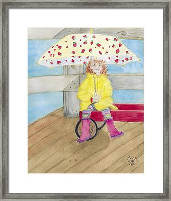 All Dressed Up And Ready For Rain Framed Print