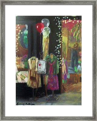 All Dressed Up For Artwalk Framed Print