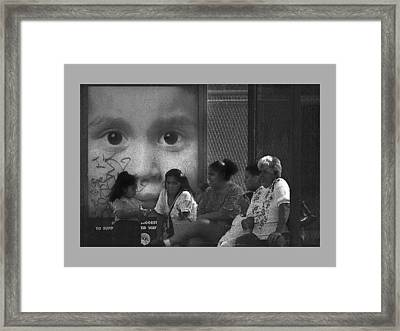 All Eyez On Thee Framed Print by Leon Hollins III