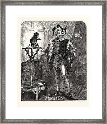 All Fools Day, Mutual Congratulations, London, Engraving Framed Print