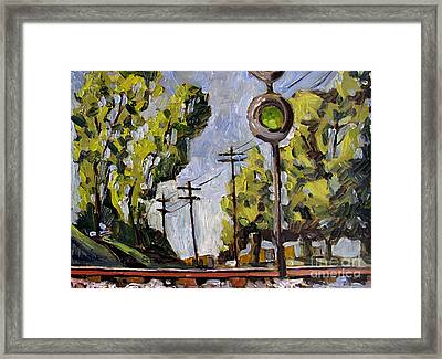 All Green Circus In Town Framed Print by Charlie Spear