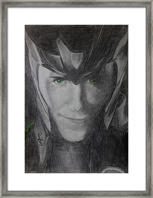 All Hail Loki Framed Print