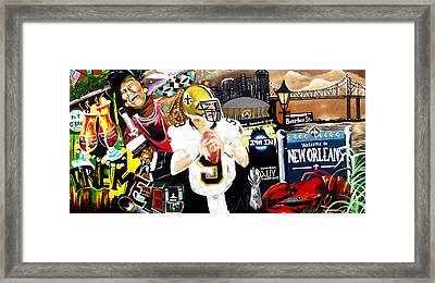 All Hail New Orleans Framed Print by Alonzo Butler