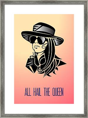 All Hail The Queen Framed Print by Florian Rodarte