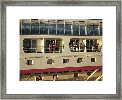 All Hell Breaks Loose On The Balcony Framed Print by French Toast