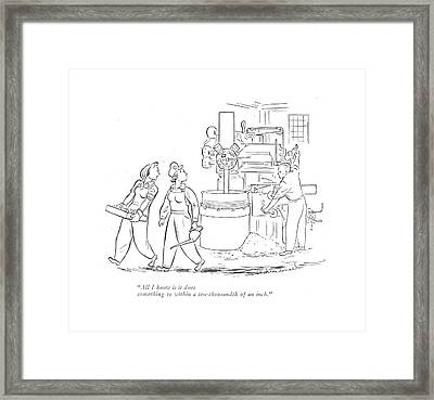 All I Know Is It Does Something Framed Print by Roberta Macdonald