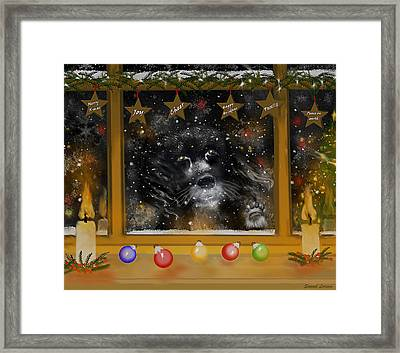 All I Want For Christmas Is A Loving Home Framed Print