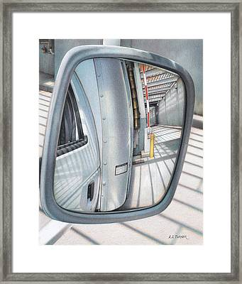 All In A Days Work Framed Print by Amy S Turner
