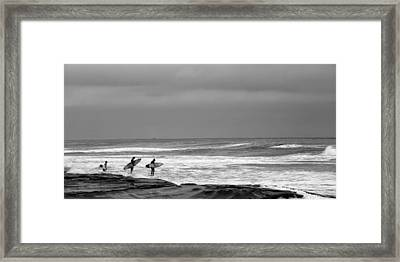 All In Black And White Framed Print by Peter Tellone