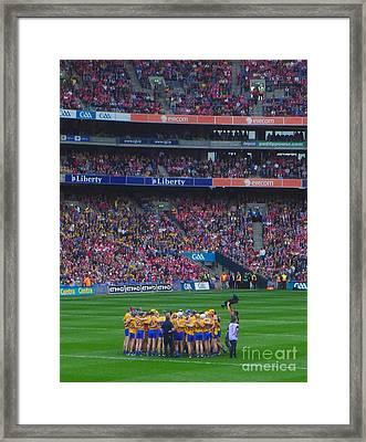 All Ireland Hurling Final Clare Team  Framed Print