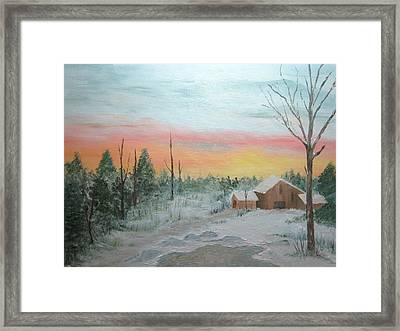 All Is Calm All Is Bright Framed Print by Nancy Craig