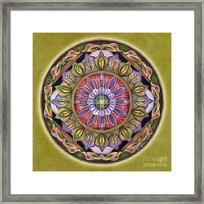All Is Well Mandala Framed Print by Jo Thomas Blaine