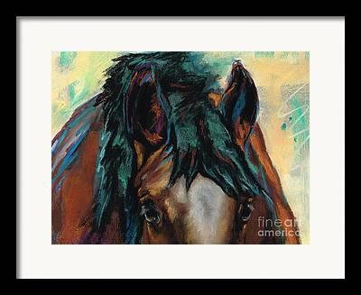 Horse Art Pastels Framed Prints