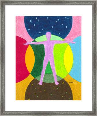 All Life In Between Framed Print