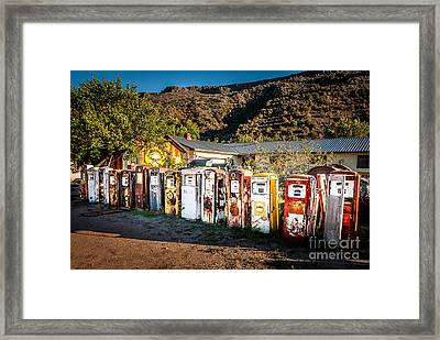 All Lined Up Framed Print by Bob and Nancy Kendrick