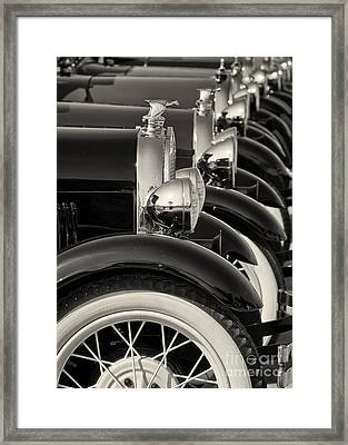 All Lined Up Framed Print by Dennis Hedberg