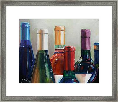 All Lined Up Framed Print by Donna Tuten