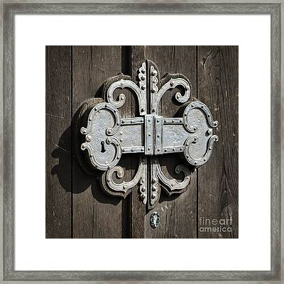 All Locked Up Framed Print by Mary Machare