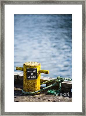 All Lust X No Love Framed Print by Anne Gilbert