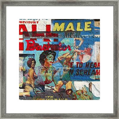 All Male Bachelors Framed Print by Russell Pierce