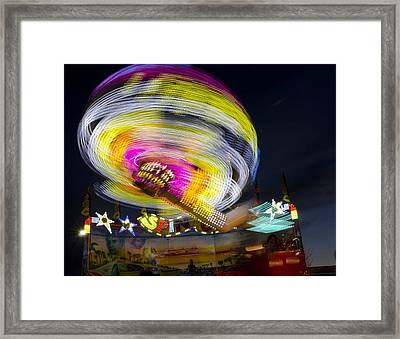 All Of The Lights Framed Print by Robert Holmberg