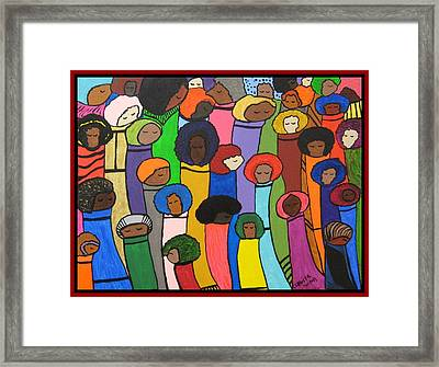 All Of Us Framed Print by Clarissa Burton