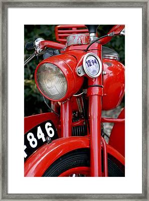 All Original English Motorcycle Framed Print by Bob Slitzan