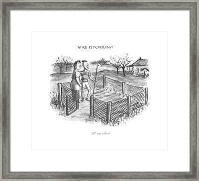 All-out Effort Framed Print by William Steig