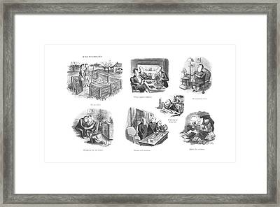 All-out Effort  Hedge Against Inflation Framed Print by William Steig