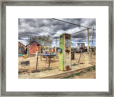 All Out Of Gas Framed Print by Wendell Thompson
