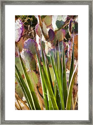 All Pointy And Sharp Framed Print