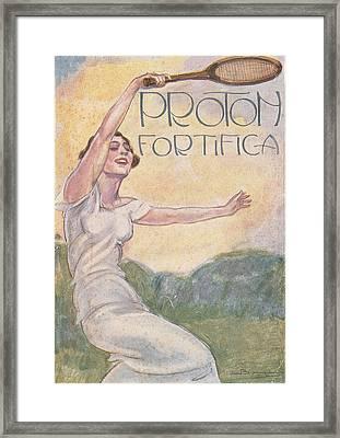 All. Poster Advertising Woman Tennis Framed Print