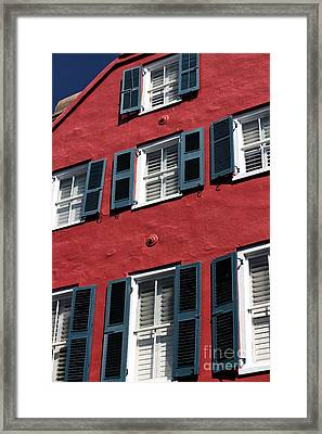 All Red Framed Print by John Rizzuto
