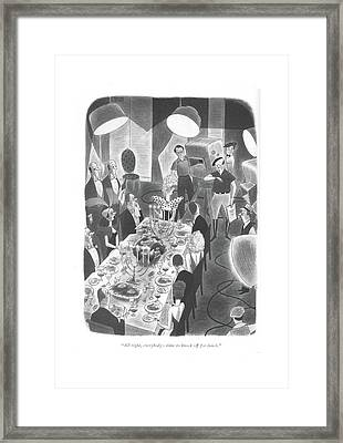 All Right, Everybody - Time To Knock Framed Print