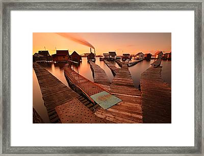 All Roads Meet Framed Print by Csilla Zelko
