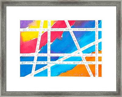 All Roads Framed Print by Ramona Wright